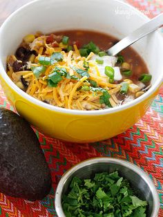 Slow-Cooker Chicken Enchilada Soup Recipe from Skinnytaste