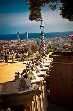 Barcelona - Parc Guell by Aiboilic, via Flickr