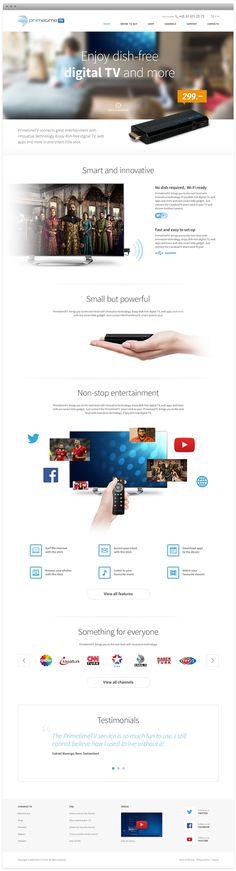 Primetime TV - that header Web Design Tools, Modern Web Design, Web Ui Design, Web Design Trends, Site Design, Media Design, Tool Design, Digital Tv, Professional Logo Design