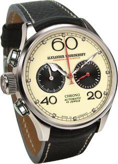Alexander Shorokhoff: Linkshänder Uhr #watch #lefty #chronograph #automatic #baselworld