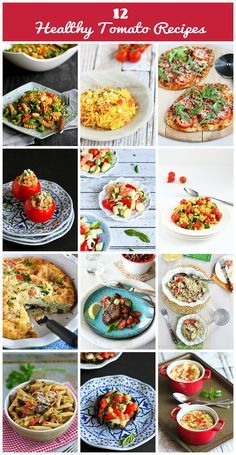12 Healthy Tomato Recipes...Perfect for your gardenful of fresh tomatoes! | cookincanuck.com
