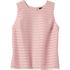 Banana Republic Women Shadow Stripe Button Back Shell (525 EGP) ❤ liked on Polyvore featuring tops, shirts, blusas, tank tops, banana republic tops, shirt top, pink shirts, sleeveless shell top and banana republic shirts
