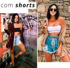 1 minute styling tip: cadarço na cintura | A produção fica super estilosa com o shorts jeans, seja para a praia ou até mesmo para o look de balada no calor. #Jeans