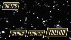 Falling Diamonds Loop with Alpha – 3840×2160   Luxury and fresh falling Simple Diamonds and Gems on black background.      1920×1080;       30 fps;       Alpha Channel;       Looped.