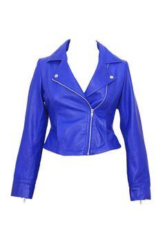 leather jacket, women leather jacket , ladies leather jacket, short biker jacket by Ruby Leather (Free Shipping to USA, CANADA & UK)