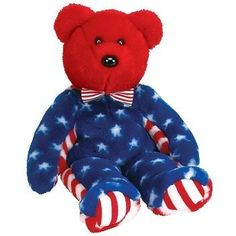 Stuffed Animal: Ty Beanie Buddies Liberty Bear Red *** Check out this great product. Kids Toy Store, New Kids Toys, Beanie Buddies, Ty Beanie, Buy Toys, Toy Sale, Big Eyes, Plushies, Cool Toys