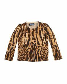 Ocelot-Print+Cardigan+Sweater,+2T-3T+by+Ralph+Lauren+Childrenswear+at+Neiman+Marcus.