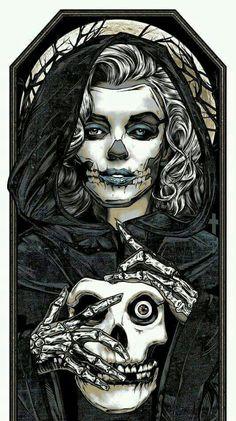 The Misfits, Misfits Band, Misfits Tattoo, Marilyn Monroe Artwork, Maleficarum, Punk Poster, Beautiful Dark Art, Zombie Girl, Skull Art