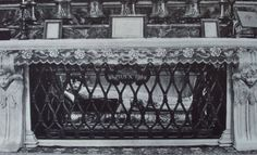 Altar containing the incorrupt body of Pope St Pius X in St Peter's. Body was not embalmed.