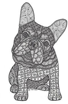 bouledogue français, bouledogue, coloriage chien, art thérapie chien, Horse Coloring Pages, Dog Coloring Page, Doodle Coloring, Cool Coloring Pages, Adult Coloring Pages, Colouring, Tracing Art, French Bulldog Art, Tangle Art
