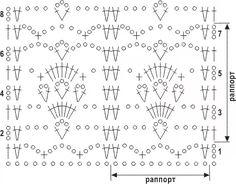 Crochet Motifs, Crochet Stitches Patterns, Crochet Chart, Stitch Patterns, Knitting Patterns, Knit Crochet, Crochet World, Knitted Shawls, Diy Clothing
