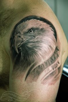 mens bald eagle with nest tattoo - Google Search
