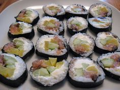 Home made maki sushi sliced