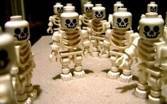 LEGO Skeleton Minifigures, more skull inspirations and designs at skullspiration.com