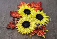 Learn how to make the sunflower here Learn how to make the Marigold flowers here Learn how to make the ...