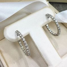 Special hoops for a special customer! Yes we can custom design any style hoop in all price ranges! #gold #diamond #custom #hoop #earring http://ift.tt/28WGahV