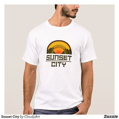 Sunset City T-Shirt - Classic Relaxed T-Shirts By Talented Fashion & Graphic Designers - #shirts #tshirts #mensfashion #apparel #shopping #bargain #sale #outfit #stylish #cool #graphicdesign #trendy #fashion #design #fashiondesign #designer #fashiondesigner #style