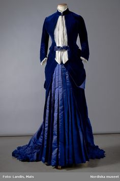 1885, velvet and silk.  More than a hundred years but I like it.  I would like to think my great-great grandmothers had something like this.