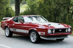 1973 Ford Mustang Mach 1 - If you've got an old car you love, we want to hear about it. Email us at oldcars@krause.com #chevroletcorvette1973