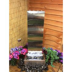 1m high - stainless steel cascade