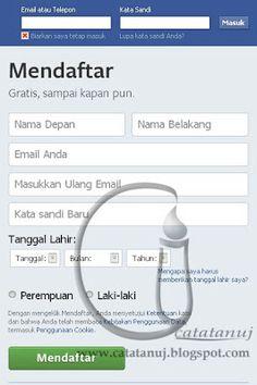 """Cara Membuat Facebook Nah sebagaimana janji ane pada waktu membahas Cara membuat email di yahoo, dipertemuan ini ane akan sharing """"Cara membuat Facebook"""", sebenarnya bukan buat Cara membuat facebook sih, tapi Cara membuat akun facebook. Heheeee."""