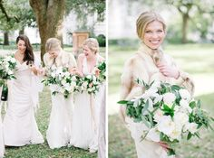 Bride and her bridesmaids in Downtown Charleston - Bridal photo - Downtown Charleston - Elegant Southern Wedding in Charleston, SC - by Charleston Wedding Photographer, Aaron and Jillian Photography.