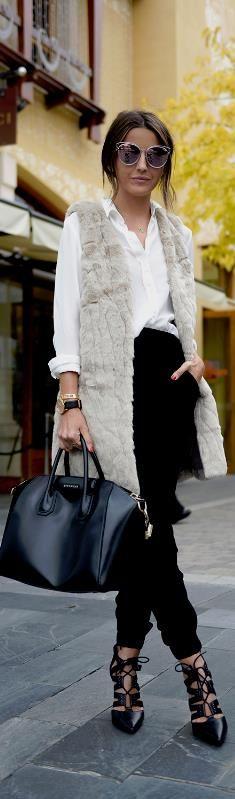FAUX FUR VEST / Fashion By Lovely Pepa