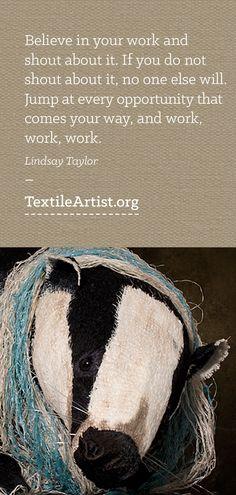 Lindsay Taylor interview: 3D textile art