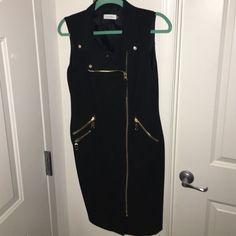 Calvin Klein Sleeveless Zipper Dress