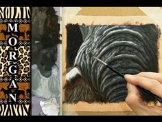 How to paint an elephant, Skin, Wrinkles, Painting Tutorial - Jason Morgan -, speed painting Acrylic Painting Tutorials, Painting Videos, Painting Lessons, Painting Techniques, Art Lessons, Glazing Techniques, Painting Fur, Painting & Drawing, Drawing Hair