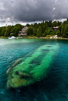 The Shipwreck, Tobermory, Ontario, Canada  how about a ship wreck and some treasure.  Now that sounds exciting
