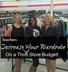 Teachers: Put together a wardrobe for pennies on the dollar by shopping for basic staple essential pieces from a thrift store! These thrift bloggers will help you shop on a budget!  www.TooCheapBlondes.com