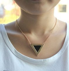 Mix minimum order $16, New arrival! metal gold triangle shape necklace ,hot sales ,free shipping on AliExpress.com. $1.50