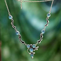Chalcedony Y-necklace, 'Sky Garland' from @NOVICA, They help #artisans succeed worldwide.