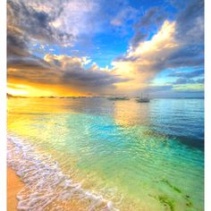 Bohol, Philippines looks beautiful! The sunset on the clear blue water is simply breathtaking. I would love to dip my toes in the water and stroll along this beach while the sun sets and rises. Dream Vacations, Vacation Spots, Hawaii Vacation, Places To Travel, Places To See, All Nature, Nature Beach, Amazing Nature, Beautiful Beaches