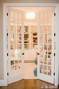 Double doors that will lead into my bedroom. It's just a great way to class up the place.