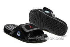 6b7fbda92fef25 2017 Jordan Hydro 13 Slide Sandals Black Gym Red For Sale Nd5Gi