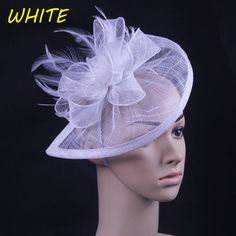 Sinamay Fascinator with Feathers 32321394304 ALIFASCR/004