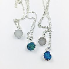 Mini Silver Plated Druzy Necklace $13.90
