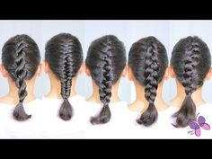 How to Braid Hair: DIY Hairstyles for Every Hair Type - ArtsyCraftsyDad Easy Hairstyles For Long Hair, Braids For Long Hair, Diy Hairstyles, Hairstyles 2018, Medium Hair Braids, Fishtail Hairstyles, Indian Wedding Hairstyles, Braided Hairstyles Tutorials, Bridal Hairstyles