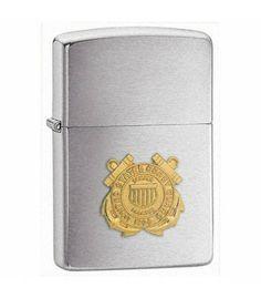 USCG Emblem Chrome Zippo Lighter (Coast Guard)