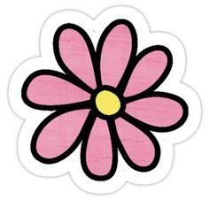 Un poco de color rosa pegatina tumblr margarita! • Also buy this artwork on stickers.