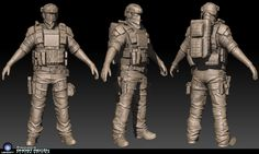 ghost recon zbrush work
