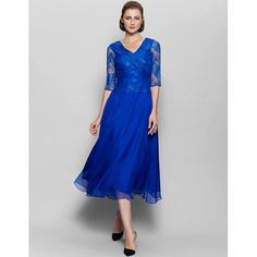 plus size mother of the groom tea length dresses