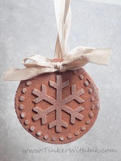 Tinker With Ink & Paper: Ornament #14: Cinnamon Pressed Cookies