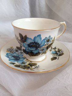 Vintage Queen Anne Tea Cup and Saucer . Thrifters at value village for 3 .