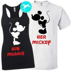 Disney Couple Vacation Shirts Minnie Mickey Mouse Workout Tank Set... ($35) ❤ liked on Polyvore featuring activewear, activewear tops, grey, women's clothing, cotton workout shirts, grey shirt, mickey mouse shirt, gray shirt and workout shirts