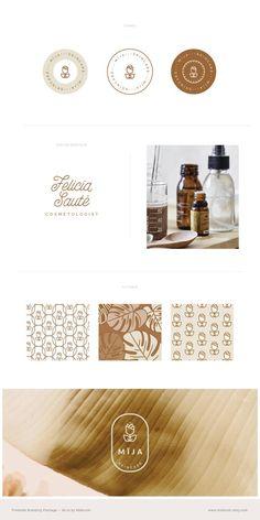 Premade Branding Suite — Branding Kit — Gold Logo Design — Logo Set + Stamp + Watermark — Branding S