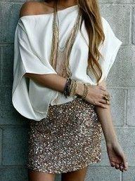 sequin skirt..