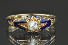 Georgian Enamel and Diamond Ring